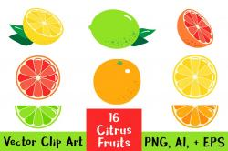 Citrus clipart orange objects