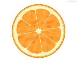 Orange (Fruit) clipart sliced