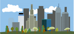 Office clipart cityscape