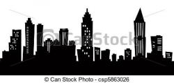 Miami clipart atlanta skyline