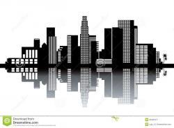 Skyline clipart downtown la
