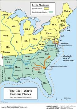 Civil War clipart north and south america