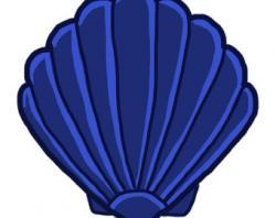 Clams clipart blue