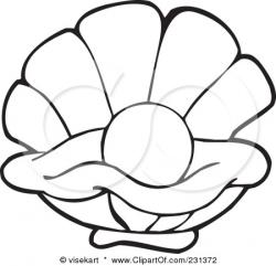 Clams clipart pearl drawing