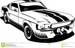 Dodge clipart mustang car