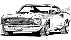 Ford clipart classic mustang car