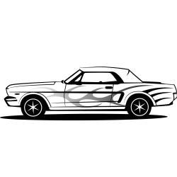 Classic Car clipart mustang car