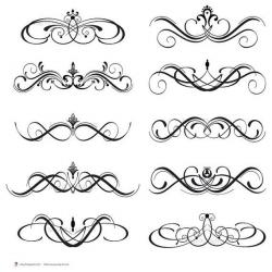 Scroll clipart calligraphy