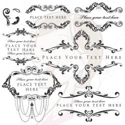 Engraving clipart classic frame