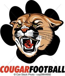 Cougar clipart cougar football