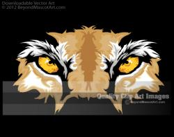 Wildcat clipart eyes