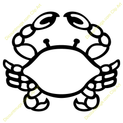 Crab clipart simple