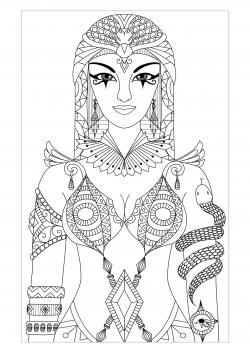 Cleopatra clipart Cleopatra Coloring Pages