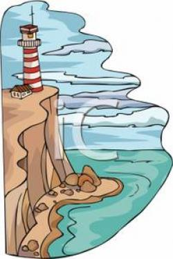 Lighthouse clipart cliff