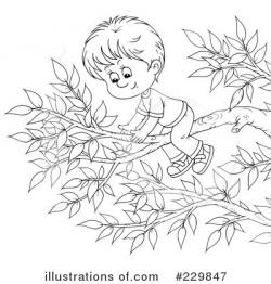 Climbing Tree clipart black and white