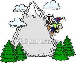 Climbing clipart gunung