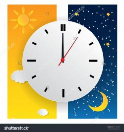 Clock clipart evening