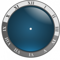 Clock clipart frozen