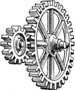 Clockwork clipart pulley gear