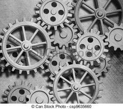 Clockworks clipart black gear