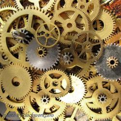Clockworks clipart blue gear