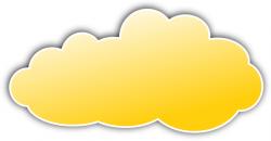Clouds clipart colorful cloud