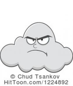 Clouds clipart grumpy