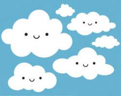Clouds clipart happy cloud