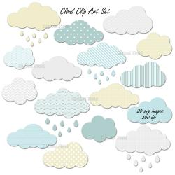 Clouds clipart printable