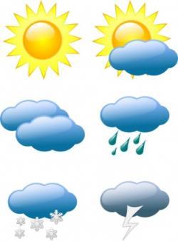 Thunderstorm clipart sunny