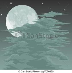 Moonlight clipart spooky moon