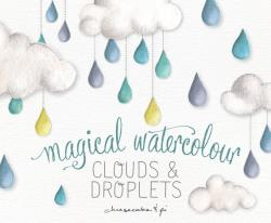 Clouds clipart whimsical