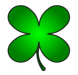 Irish clipart four leaf clover