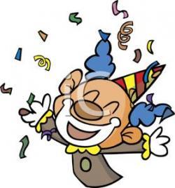 Clown clipart confetti