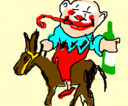 Clown clipart drunk