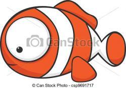 Clownfish clipart cute fish