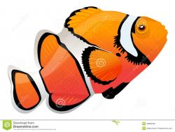 Clownfish clipart colorful fish