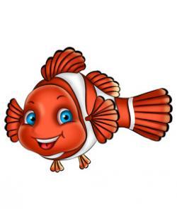 Clownfish clipart happy fish