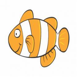 Clownfish clipart little fish