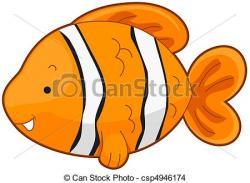 Clownfish clipart simple fish