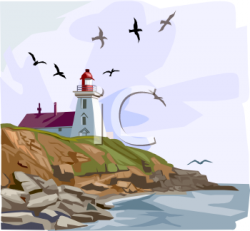 Lighhouse clipart coastline