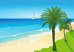 Seashore clipart seaside