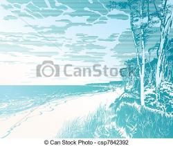 Coastline clipart seaside