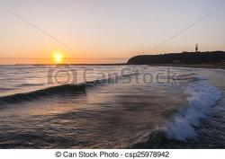 Coastline clipart sunrise beach