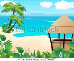 Coastline clipart tropical beach