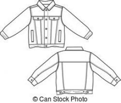 Coat clipart denim jacket