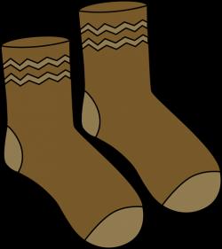 Gray clipart pair sock