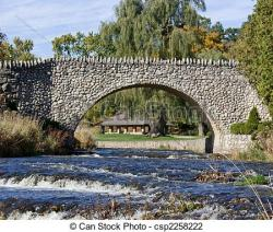 Cobblestone clipart bridge