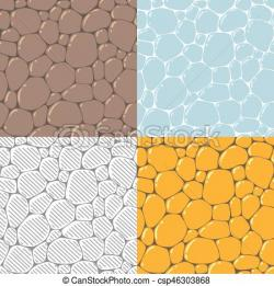 Cobblestone clipart illustration