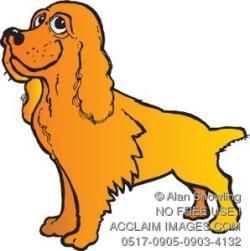 Cocker Spaniel clipart cartoon